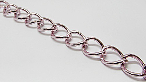 Corrente Aluminio Elo Oval Redondo Torto - COAL004