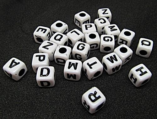 Cubinho de letras Branco/Preto P (Atacado e Varejo) - COP019