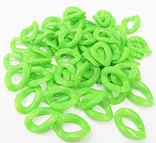 Elo Resina P Verde Fluor (20Pçs) - ELO010