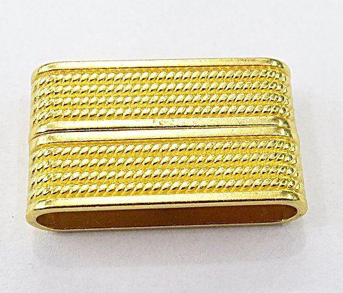 Fecho de Ima Dourado Importado Retangular Trabalhado (01 unid.)- FID005