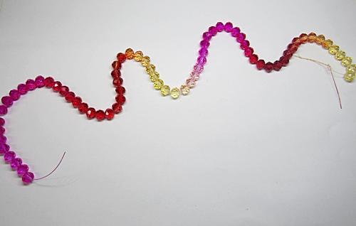 Fio De Cristal Chines Nº08 Tie Dye Multicor Modelo II - FCC002
