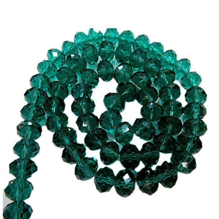 Fio de cristal chinês Nº 08 Verde esmeralda - CC049