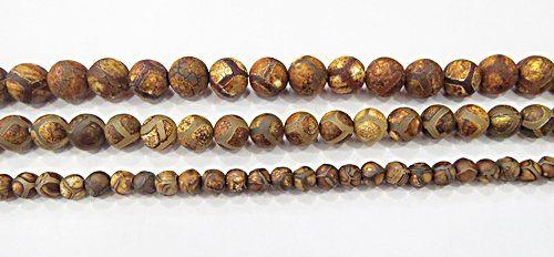 Fio De Pedra Natural Ágata Tibetana - Pdn249