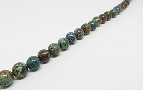 Fio De Pedra Natural Calcita Azul Mescla 06,08 e 10mm - PDN297