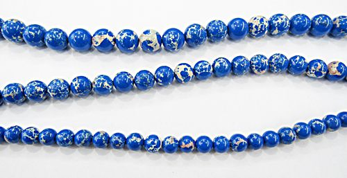 Fio De Pedra Natural Jaspe Imperial Azul Royal - PDN290