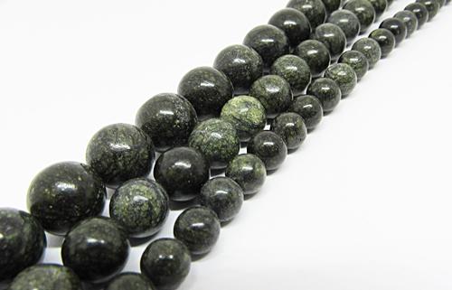 Fio De Pedra Natural Jaspe Serpentina 06,08 e 10mm - PDN299