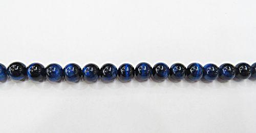 Fio De Pedra Natural Olho de Tigre Azul N08 - PDN277