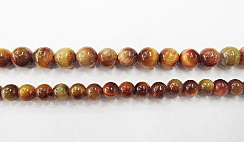 Fio De Pedra Natural Olho de Tigre Caramelo - PDN279