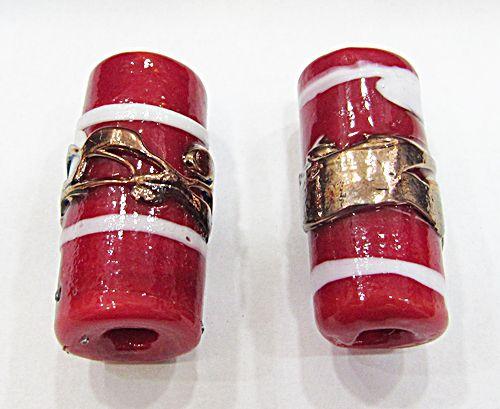 Firma De Murano GG Vermelha com Branco e Cobre - FM103