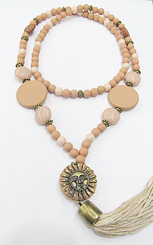 Japamala Resina Nude c/ Sol Ouro Velho - JAP011
