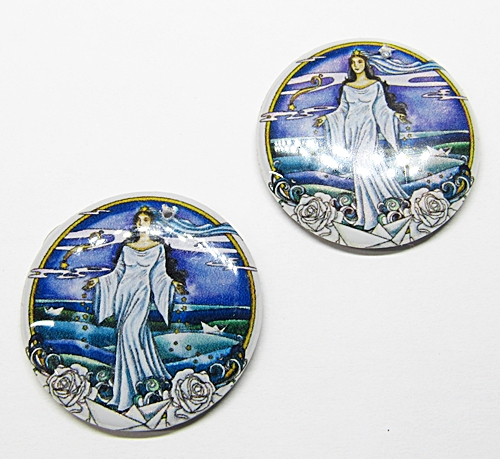 Medalha Acrilica Resinada Orixa Iemanja - PFO146