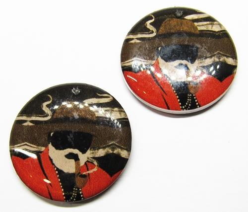 Medalha Acrilica Resinada Orixa Preto Velho - PFO157
