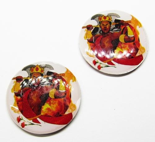 Medalha Acrilica Resinada Orixa Xango - PFO159