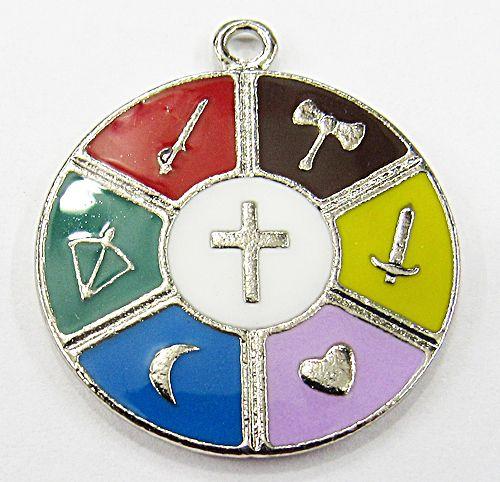 Medalha De Orixa Niquel Resinada 7 Linhas - MDO066