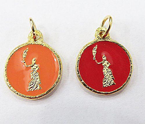 Medalha Dourada Resinada Orixa Egunitá - MDO049