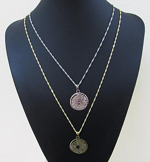 Medalha Folheada Oval M Oração Santo Anjo (Com Ou Sem Corrente Folheada) - MDF004