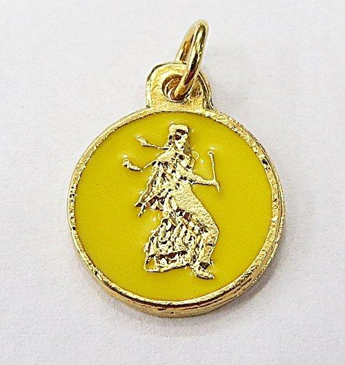 Medalha Resinada Dourada Opará - MDO027