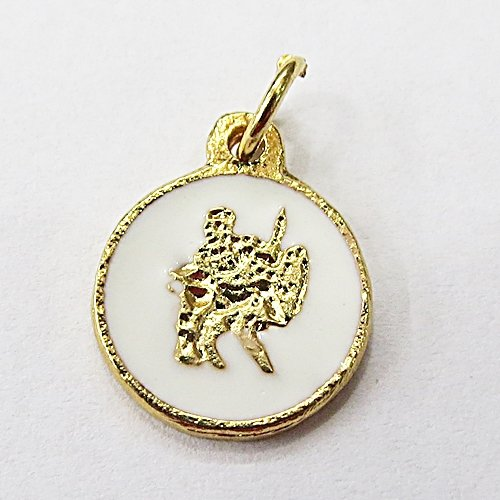 Medalha Resinada Dourada Oxaguian - MDO039