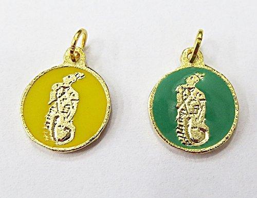 Medalha Resinada Dourada Oxumaré - MDO033