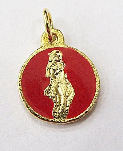 Medalha Resinada Dourada Pomba Gira - MDO023