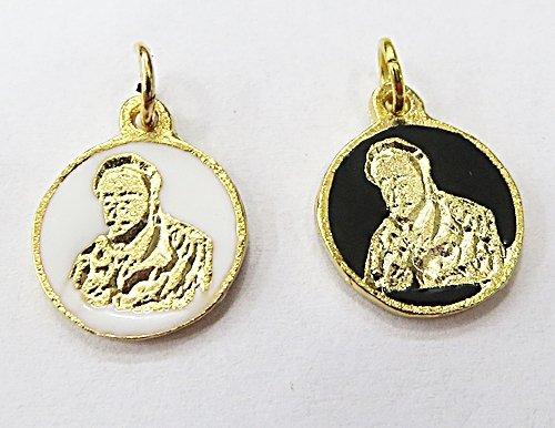 Medalha Resinada Dourada Preto Velho - MDO015