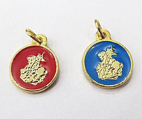Medalha Resinada Dourada São Jorge - MDO025