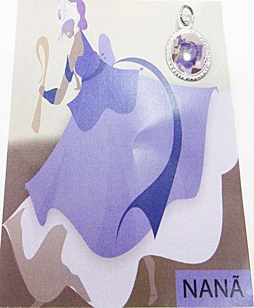 Medalhinha Orixa (Nanã) c/ Informativo (Prateada e Dourada) - MDO069