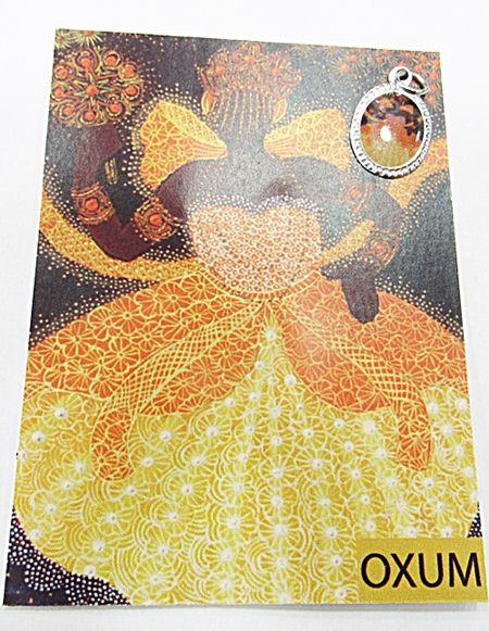 Medalhinha Orixa (Oxum) c/ Informativo (Prateada e Dourada) - MDO071