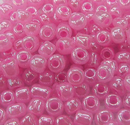 Miçanga chinesa rosa bebe perolada (500 grs)- MIÇ008 ATACADO