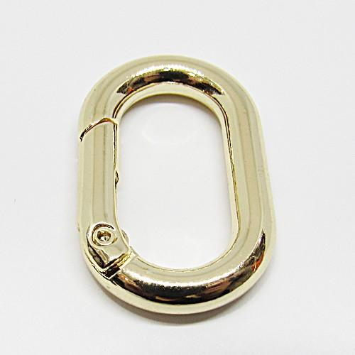 Mosquetão Dourado Oval Articulado M - MOS008
