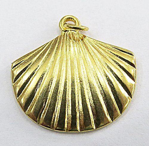 pingente Concha Dourado G-PTD150