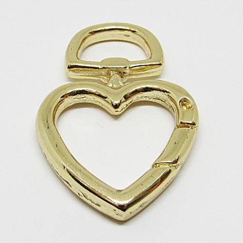 Pingente Coração Dourado Grande (Modelo Fecho)  - PGT028