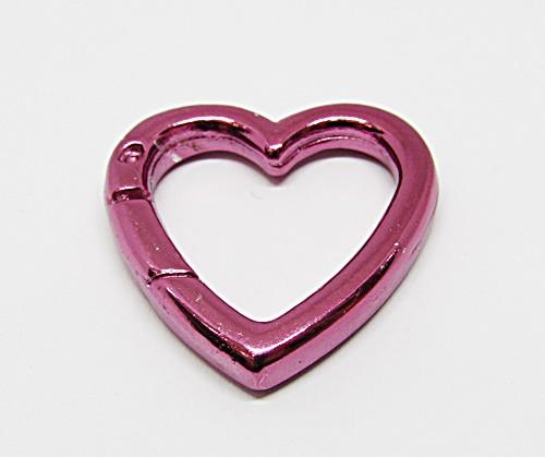 Pingente Coração Rose Grande (Modelo Fecho)  - PGT029