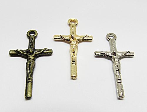 Pingente Cruz C/ Cristo Fina P - PGR010