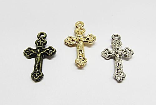 Pingente Cruz C/ Cristo Trabalhada P - PGR011