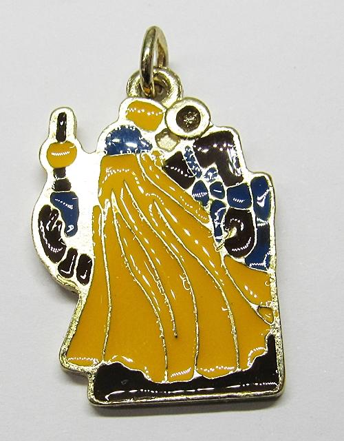 Pingente Dourado Resinado Miniatura Orixa OBaluaê - PFO121