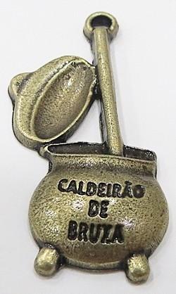 PINGENTE OURO VELHO CALDEIRÃO BRUXA - PTO158