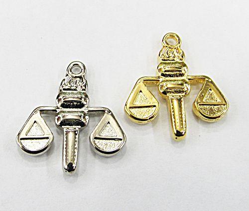 Pingente Simbolo Profissão Direito (Niquel e Dourado) - PGT016