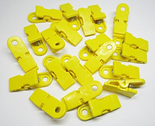 Prendedor De Plastico Amarelo 02 Pçs - PDR004