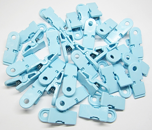 Prendedor De Plastico Azul 02 Pçs - PDR006