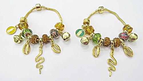 Pulseira Dourada Pandora De Orixa 19Cm (Oxumaré) - PUL061