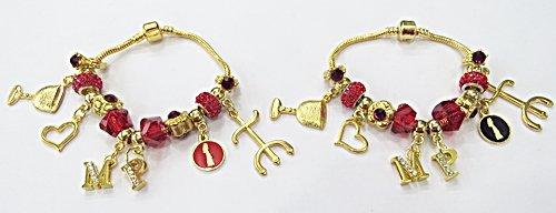 Pulseira Pandora Dourada De Orixa 19Cm (Maria Padilha) - PUL056