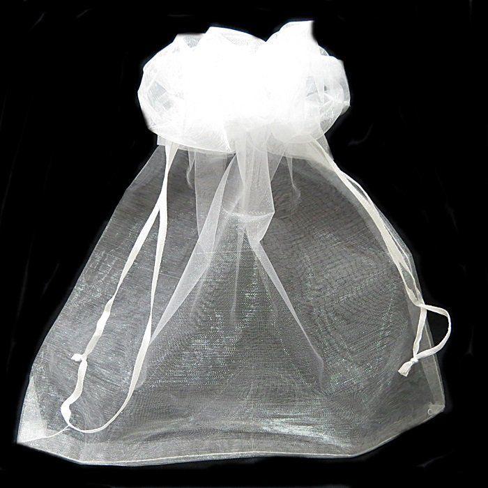 Saco de organza branco P/ CHINELO 35,5x 19,5cm ( 50 unid.)- SO002 ATACADO