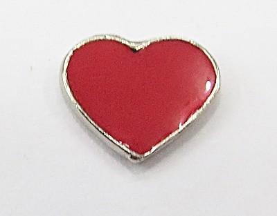 Secrets Pandora Niquel Coração Vermelho Resinado -CPN035