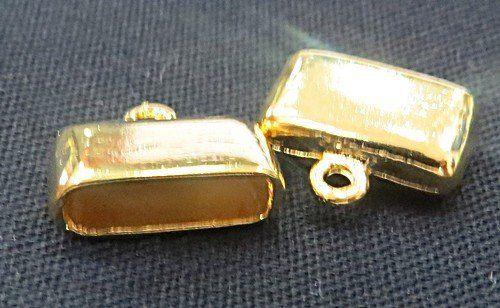 Terminal de Colagem Dourado Achatado Pequeno (04 unid.)- TCD015
