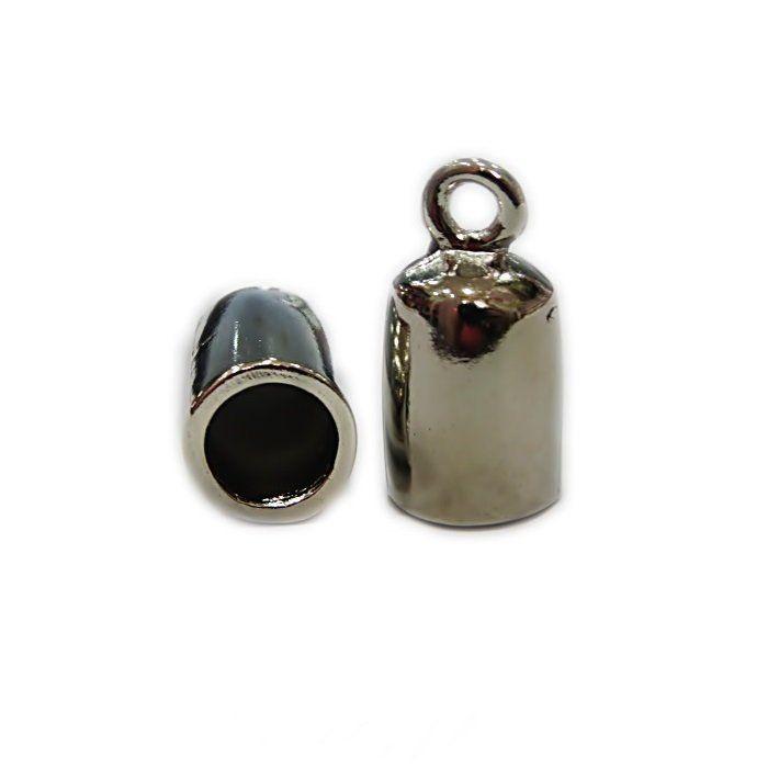 Terminal de colagem redondo niquel G1 ( 4 peças) -TCN040