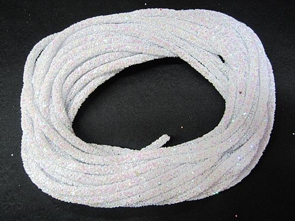 Tubo De Glitter Branco 1 Metro - TUBO02