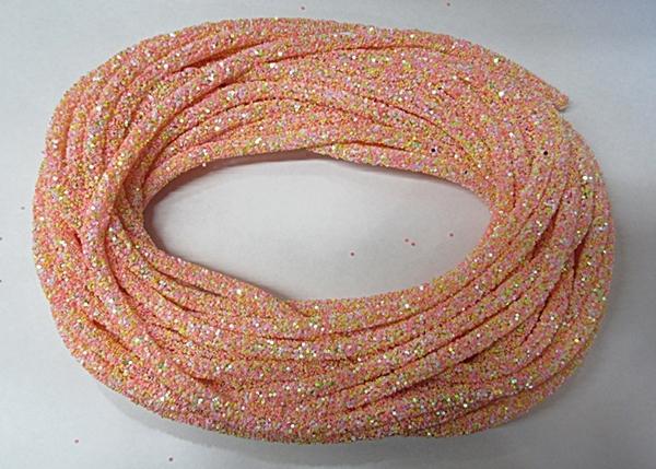 Tubo De Glitter Rose Multicor 1 Metro - TUBO03