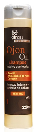 Shampoo Ojon Oil Cachos Girass 320ml