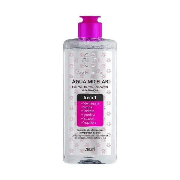 Ana Hickmann Agua Micelar   6 em 1 - 280 ml